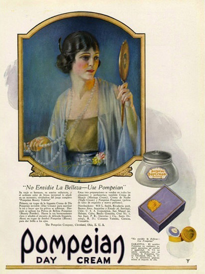 Pompeian Day Cream | Sex Appeal Vintage Ads and Covers 1891-1970