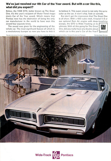 Pontiac GTO 1968 Swimming Pool GM | Vintage Cars 1891-1970