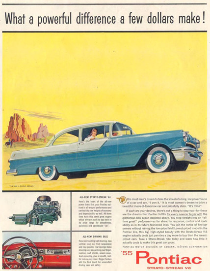 Pontiac 2-Door Sedan 1955 Monumente | Vintage Cars 1891-1970