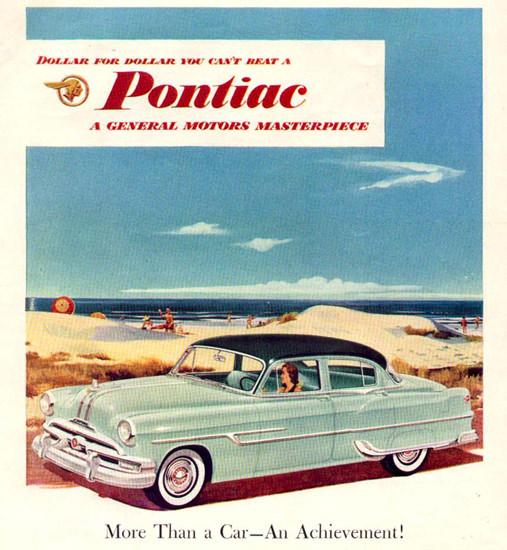 Pontiac An Achievment 1953 Beach | Vintage Cars 1891-1970