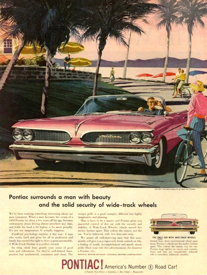 Pontiac Automobile Americas No 1 Road Car Pink | Vintage Cars 1891-1970