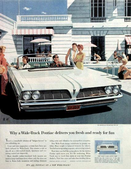 Pontiac Bonneville 1961 White | Vintage Cars 1891-1970