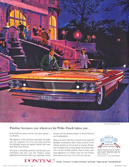 Pontiac Bonneville Conv 1960 Wide Track Weels | Vintage Cars 1891-1970