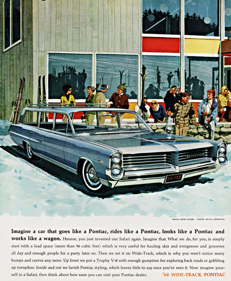 Pontiac Bonneville Custom Safari 1964 Ski Arena | Vintage Cars 1891-1970