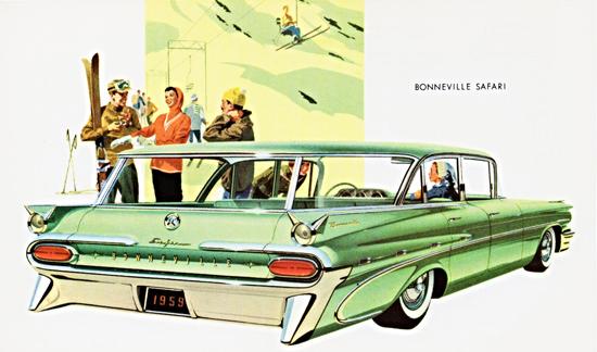 Pontiac Bonneville Safari 1959 Skiing | Vintage Cars 1891-1970