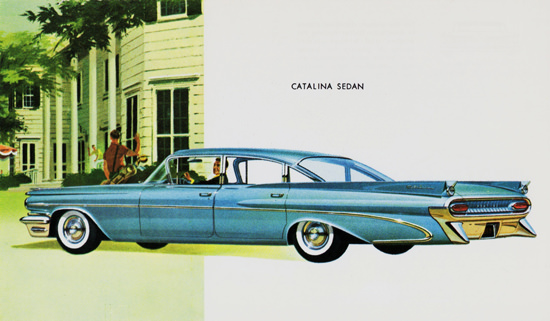 Pontiac Catalina Sedan 1959 Blue | Vintage Cars 1891-1970