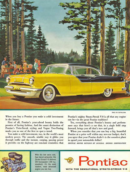 Pontiac Catalina V8 1956 Yellow | Vintage Cars 1891-1970