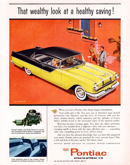 Pontiac Chieftain 870 V8 Catalina 1955 | Vintage Cars 1891-1970
