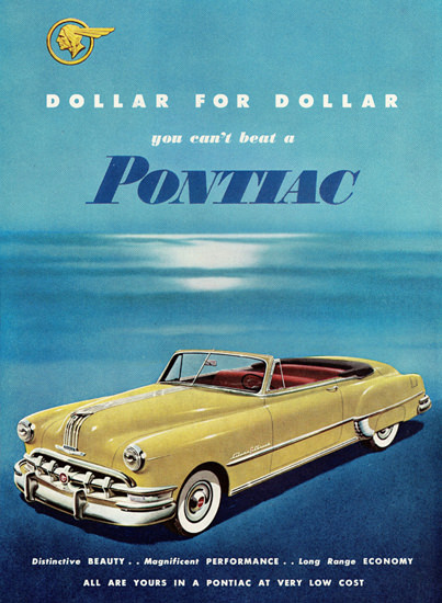 Pontiac Chieftain De Luxe Convertible 1950 | Vintage Cars 1891-1970
