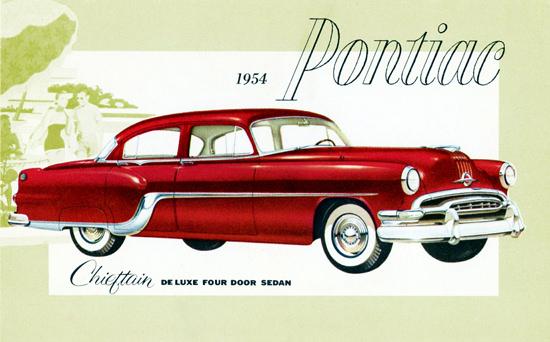 Pontiac Chieftain De Luxe Sedan 1954 | Vintage Cars 1891-1970