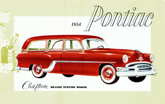 Pontiac Chieftain De Luxe Station Wagon 1954 | Vintage Cars 1891-1970