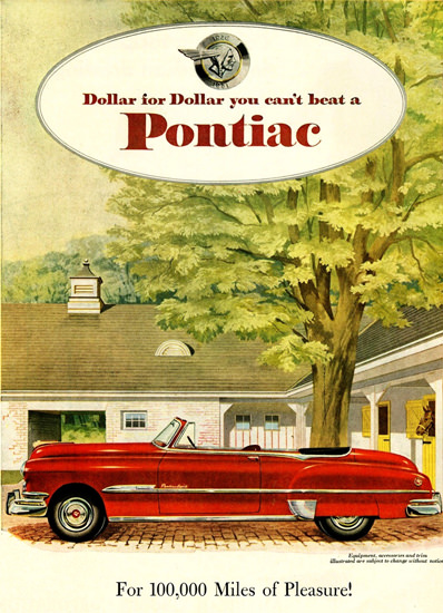 Pontiac Chieftain DeLuxe Eight Convertible 1951 | Vintage Cars 1891-1970