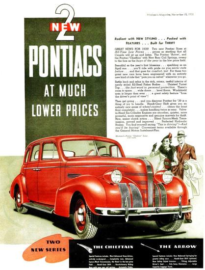 Pontiac Chieftain Sedan With Trunk Canada 1939 | Vintage Cars 1891-1970