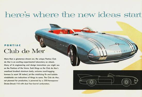 Pontiac Club De Mer Concept Car 1956 | Vintage Cars 1891-1970