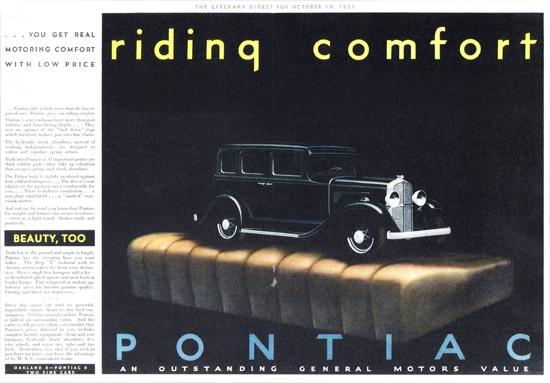 Pontiac Custom Sedan Fisher Body 1931 | Vintage Cars 1891-1970