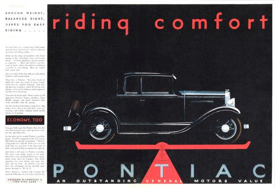 Pontiac Custom Sport Coupe 1931 Economy Too | Vintage Cars 1891-1970