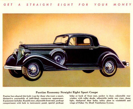 Pontiac Economy Straight Eight Sport 1934 | Vintage Cars 1891-1970