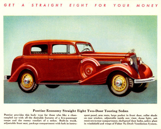Pontiac Economy Straight Eight Touring 1934 | Vintage Cars 1891-1970