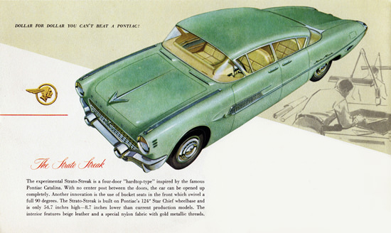 Pontiac Experimental Strato Streak 1954   Vintage Cars 1891-1970