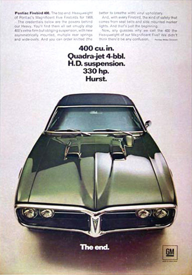 Pontiac Firebird 1968 400 Cu In Quadra-Jet | Vintage Cars 1891-1970