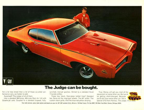 Pontiac GTO The Judge 1969 | Vintage Cars 1891-1970