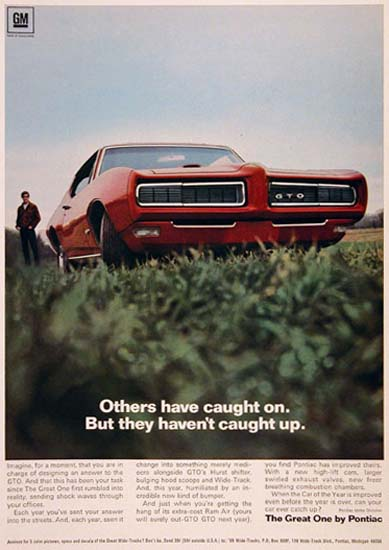 Pontiac GTO 1968 The Great One By Pontiac | Vintage Cars 1891-1970