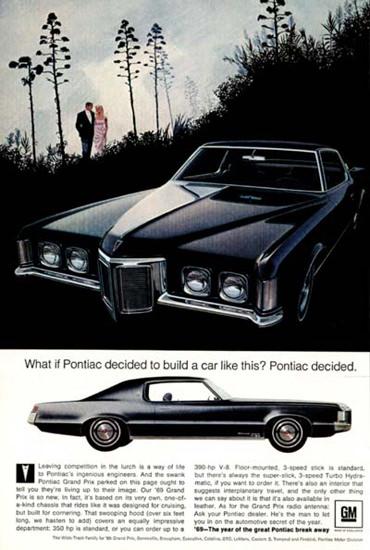 Pontiac Grandprix 1969 Pontiac Decided Black | Vintage Cars 1891-1970