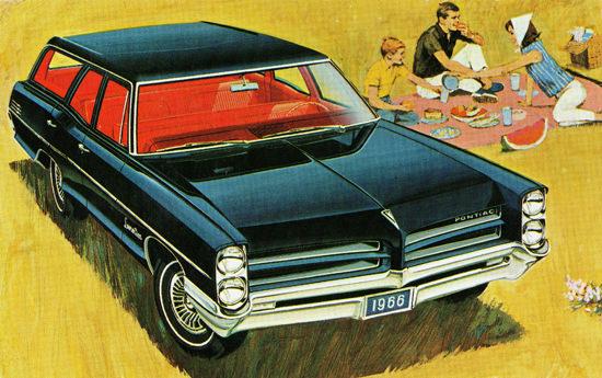 Pontiac Laurentian Safari Station Wagon 1966 | Vintage Cars 1891-1970