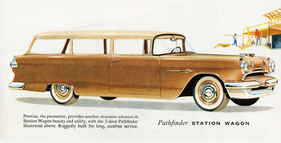 Pontiac Pathfinder Station Wagon 1955 | Vintage Cars 1891-1970