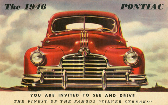Pontiac Silver Streaks Front End 1946 | Vintage Cars 1891-1970
