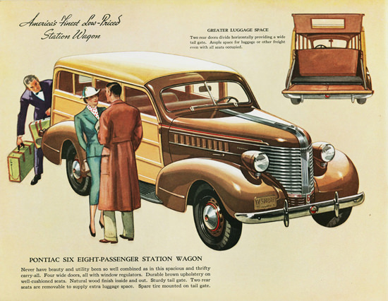 Pontiac Six Station Wagon 1938 | Vintage Cars 1891-1970