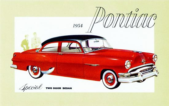 Pontiac Special Sedan 1954 Red Black | Vintage Cars 1891-1970