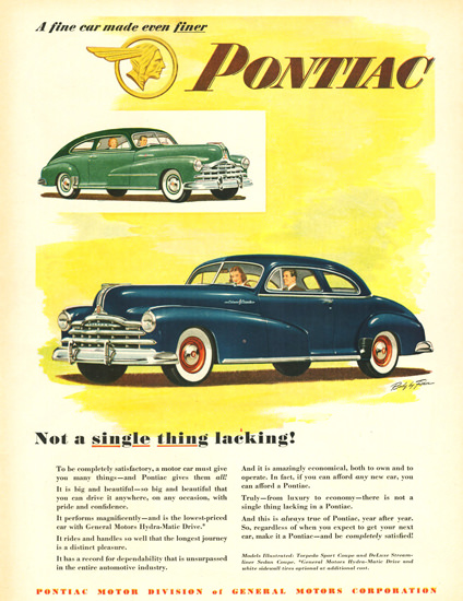 Pontiac Sport Coupe Streamliner Coupe 1948 | Vintage Cars 1891-1970