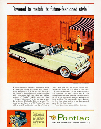 Pontiac Star Chief Convertible 1955 Powered To Much | Vintage Cars 1891-1970