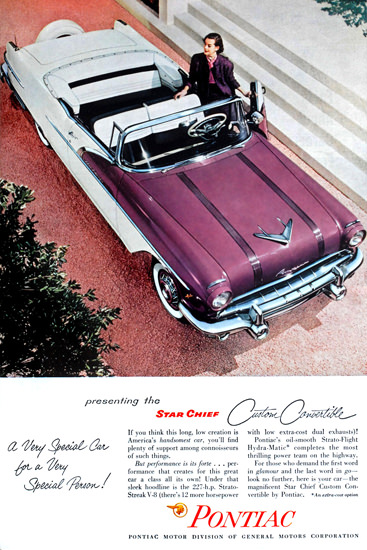 Pontiac Star Chief Custom Convertible 1956 | Vintage Cars 1891-1970