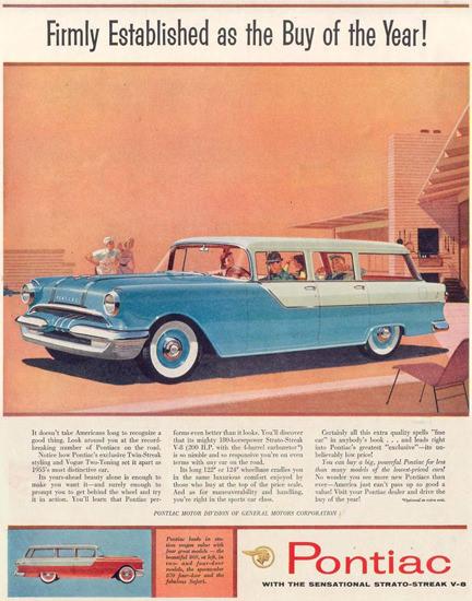 Pontiac Station Wagon 1955 | Vintage Cars 1891-1970