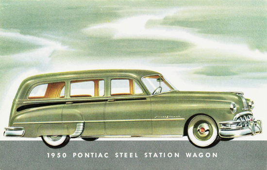 Pontiac Steel Station Wagon 1950 | Vintage Cars 1891-1970