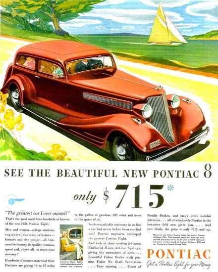Pontiac Straight Eight 2 Door Touring Sedan 1934 | Vintage Cars 1891-1970