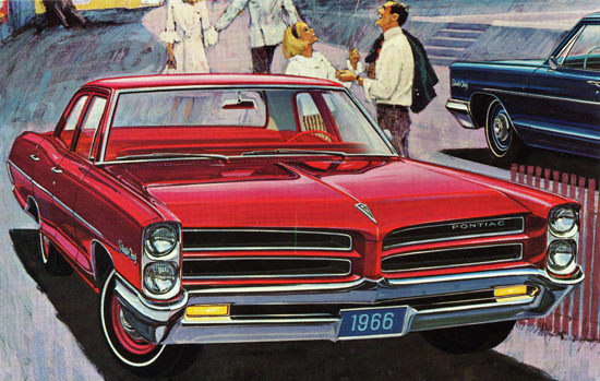 Pontiac Strato Chief Sedan 1966 Baloons   Vintage Cars 1891-1970