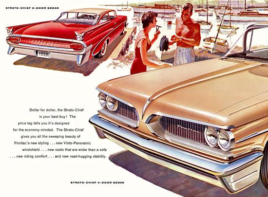 Pontiac Strato Chief Sedan 1959 | Vintage Cars 1891-1970