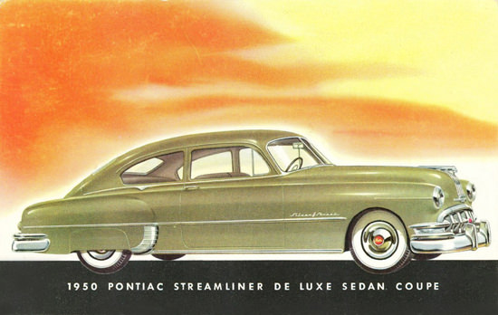 Pontiac Streamliner DeLuxe Sedan Coupe 1950 | Vintage Cars 1891-1970