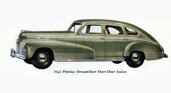 Pontiac Streamliner Sedan 1942 | Vintage Cars 1891-1970