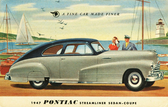 Pontiac Streamliner Sedan Coupe 1947 | Vintage Cars 1891-1970