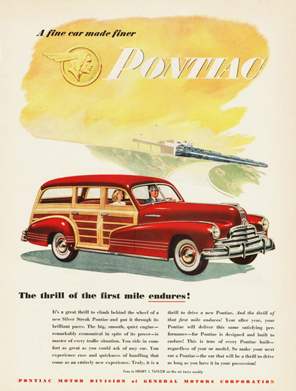 Pontiac Streamliner Station Wagon 1947 | Vintage Cars 1891-1970
