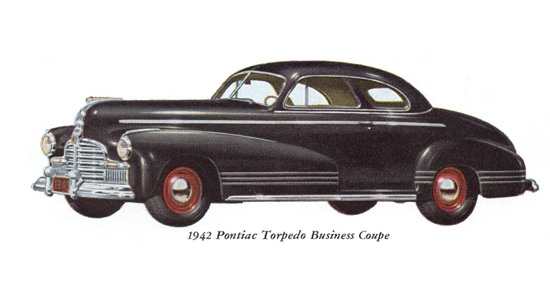 Pontiac Torpedo Business Coupe 1942 | Vintage Cars 1891-1970