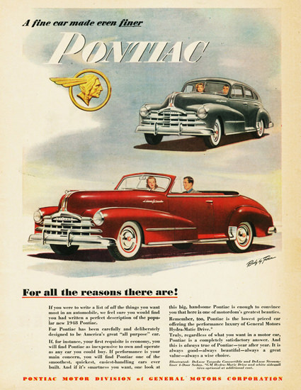 Pontiac Torpedo Conv Streamliner Sedan 1948 | Vintage Cars 1891-1970