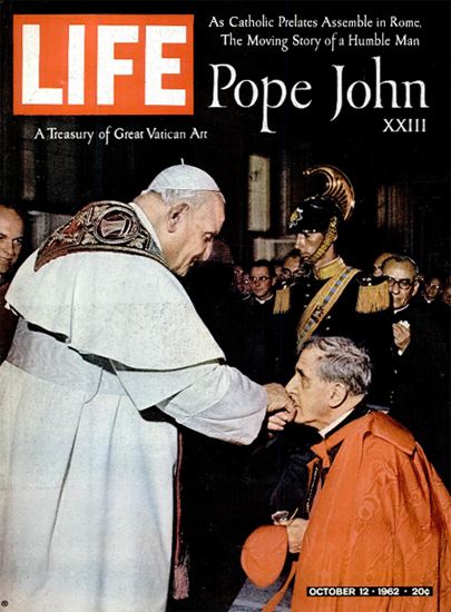 Pope John XXIII Assemble in Rome 12 Oct 1962 Copyright Life Magazine | Life Magazine Color Photo Covers 1937-1970