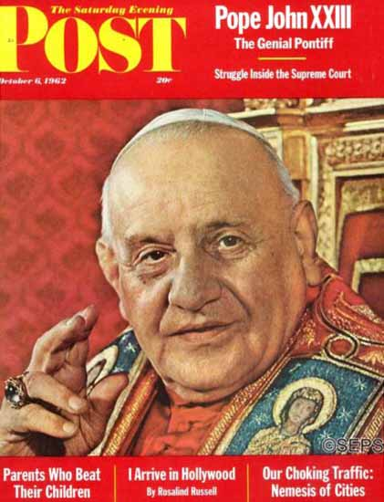Pope John XXIII Saturday Evening Post 1962_10_06 | Vintage Ad and Cover Art 1891-1970