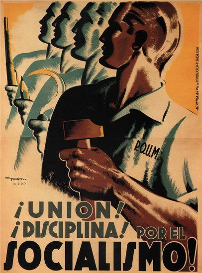 Por El Socialismo Spain Espana   Vintage War Propaganda Posters 1891-1970