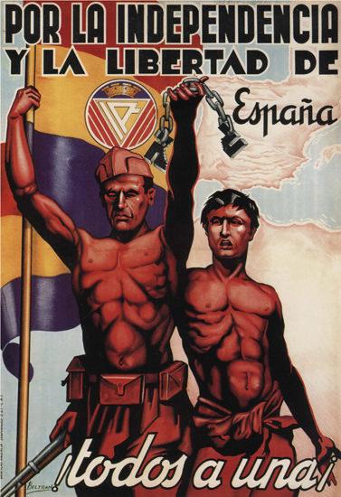 Por La Independencia Spain Espana | Vintage War Propaganda Posters 1891-1970